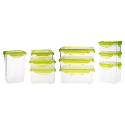 Kinetic GoGreen Fresh 20-Piece Rectangular and Square Food Storage Container Set with Lid