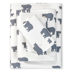 Bear Family Flannel Sheet Set - Eddie Bauer®