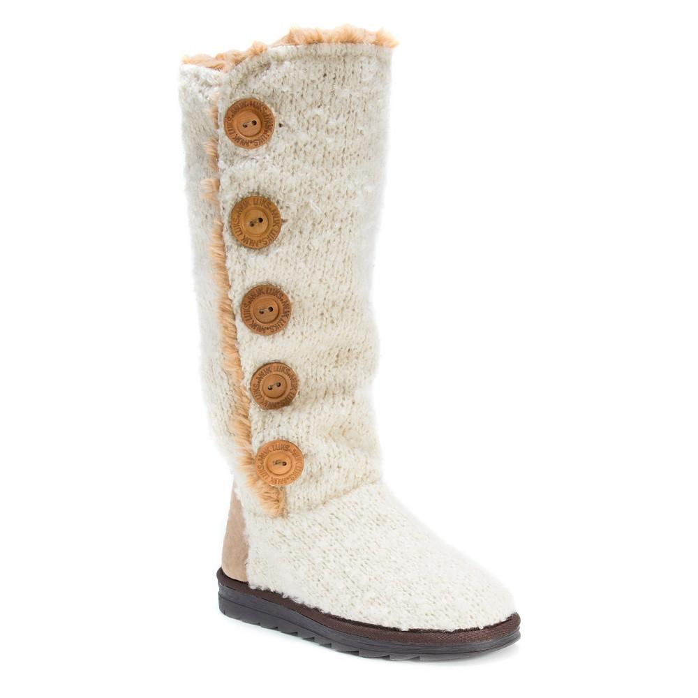 Womens Muk Luks Jazlyn Boots - White 10
