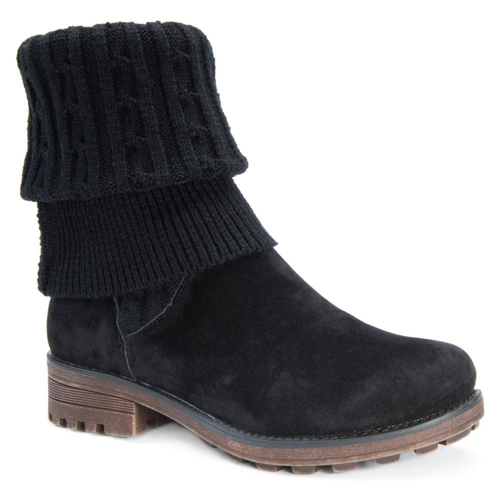 Womens Muk Luks Kelby Knit Sweater Boots - Black 6
