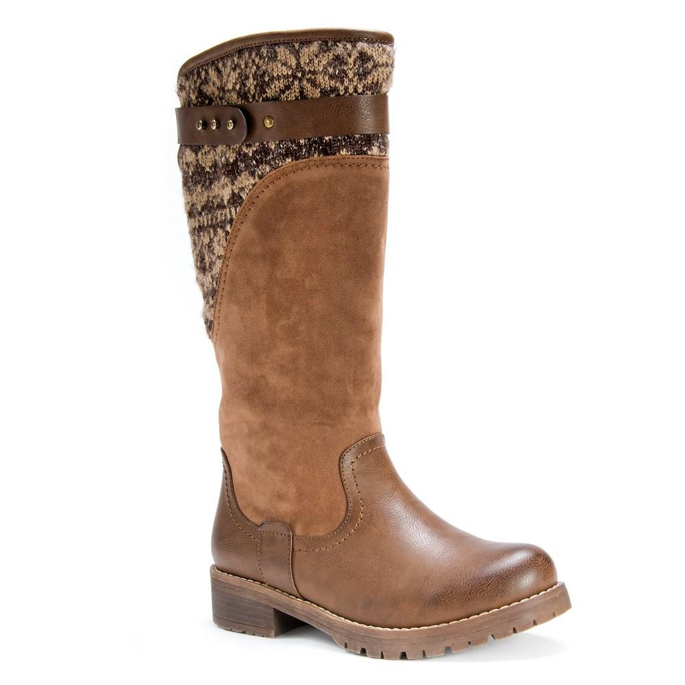 Womens Muk Luks Kelsey Boots - Chestnut 10, Brown