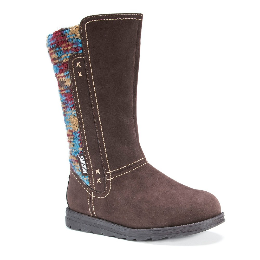 Womens Muk Luks Lilah Knit Boots - Brown 9