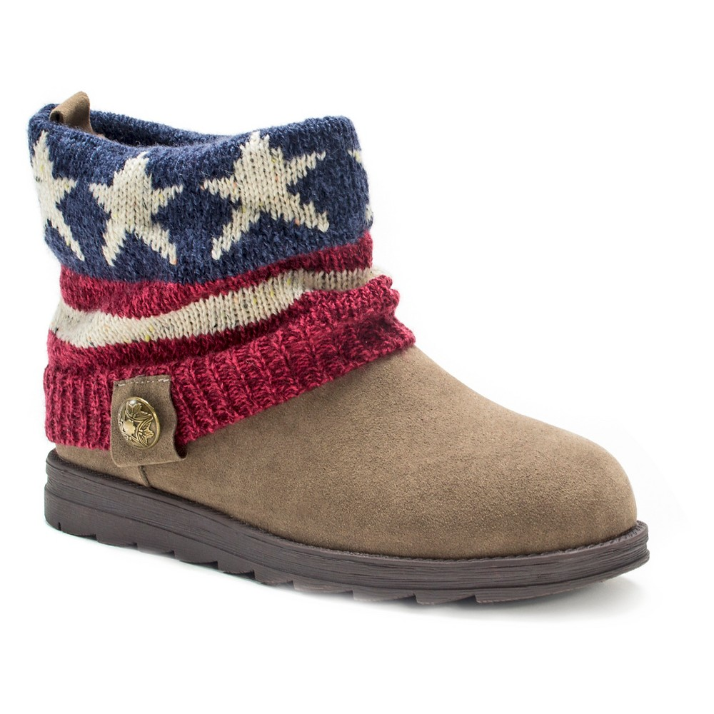 Womens Muk Luks Patti Americana Ankle Boots - 7, Multicolored