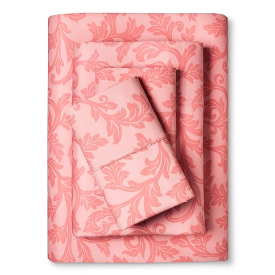 Home Styles Damask Cotton Sheet Set (Full)Rose - Elite Home