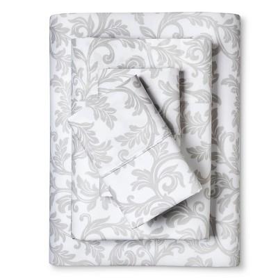 Home Styles Damask Cotton Sheet Set (Queen)White - Elite Home