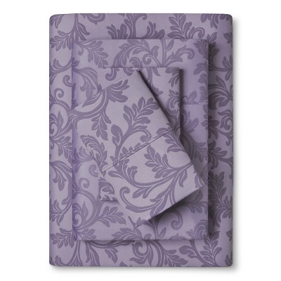 Home Styles Damask Cotton Sheet Set (King)Lavender - Elite Home