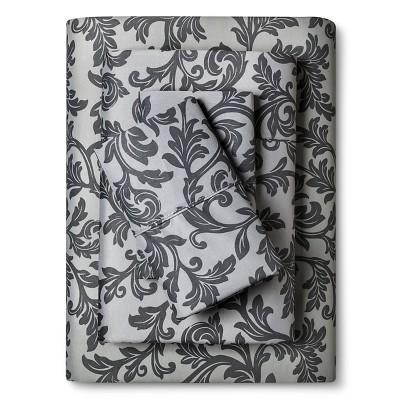 Home Styles Damask Cotton Sheet Set (King)Gray - Elite Home