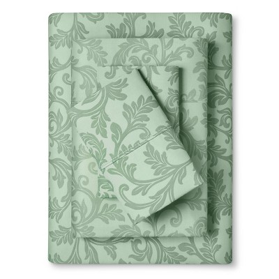 Home Styles Damask Cotton Sheet Set (King)Jade - Elite Home