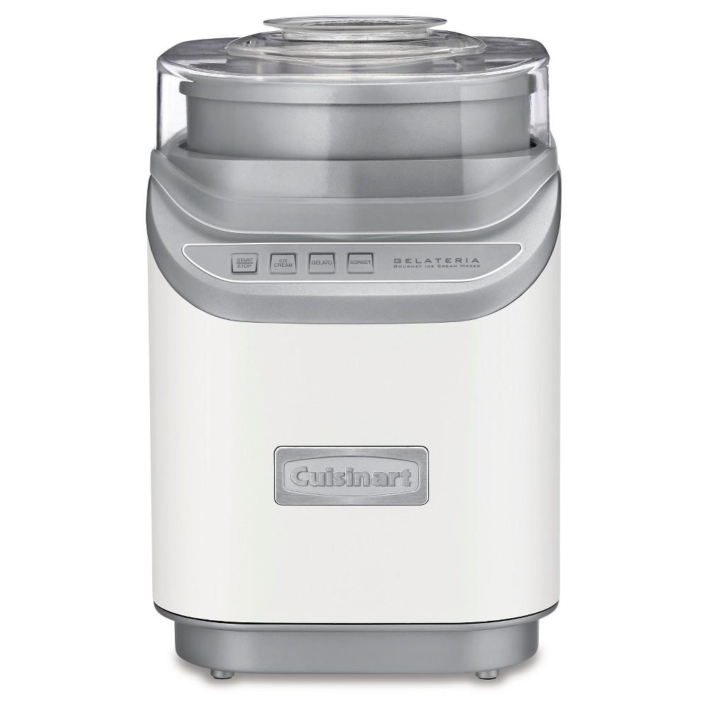 Cuisinart Gelateria Ice Cream Maker -White Ice-60W, White