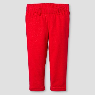 Baby Girls' Legging Pant Cat & Jack™ - Red Pop 18 M