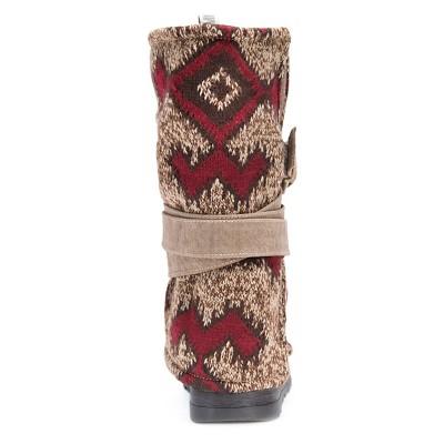 Women's Muk Luks Nevia Multi Strap Sweater Boots - Brown 7