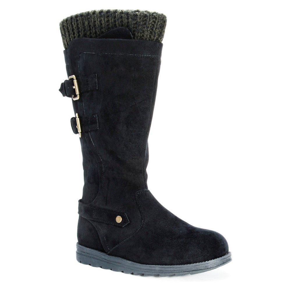 Womens Muk Luks Nora Buckle Detail Boots - Black 8