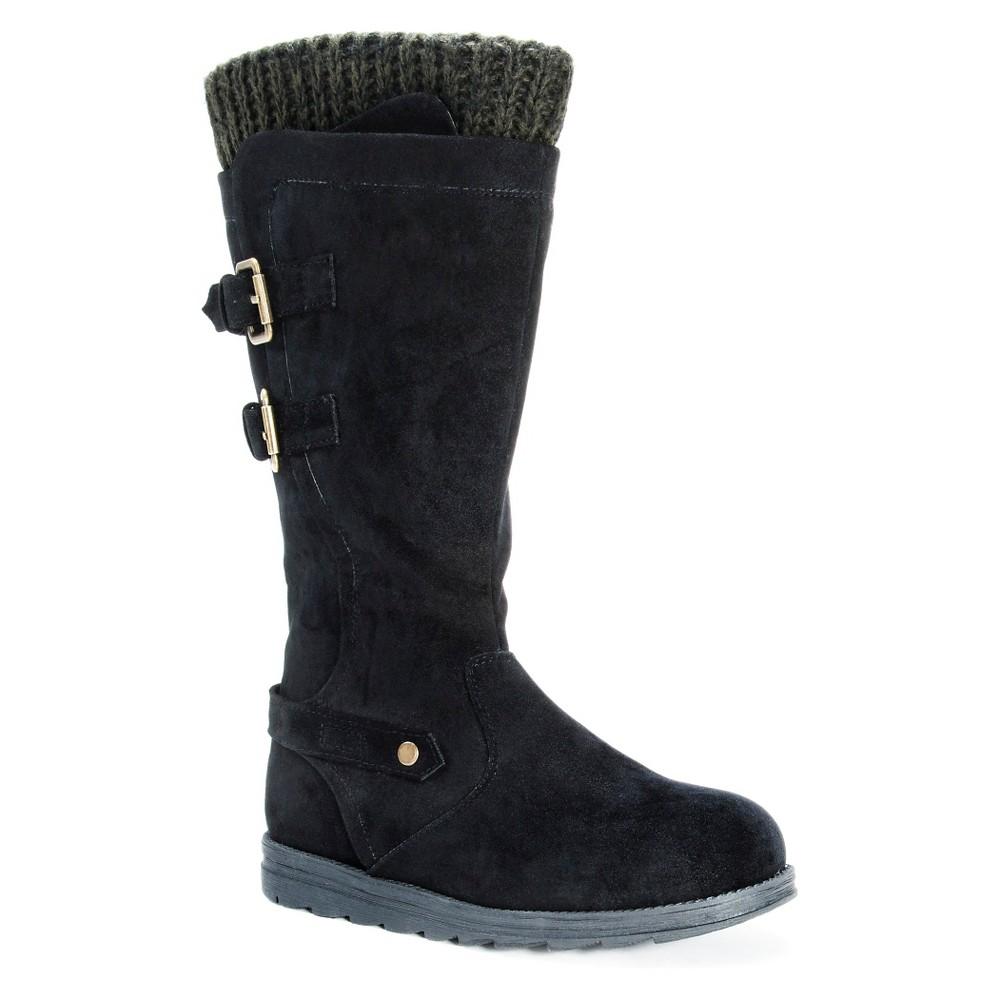 Womens Muk Luks Nora Buckle Detail Boots - Black 9