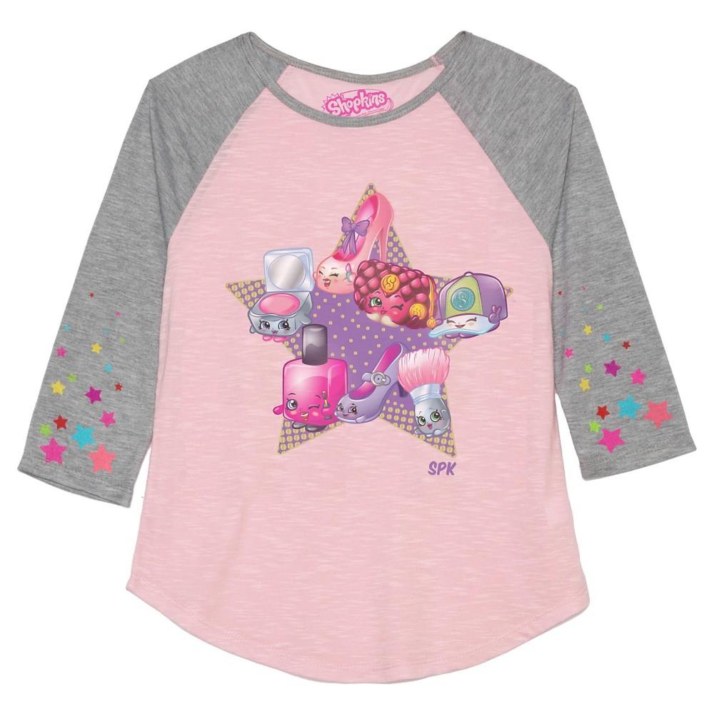 Plus Size Girls' Shopkins 3/4 Sleeve T-Shirt – Pink M Plus, Girl's