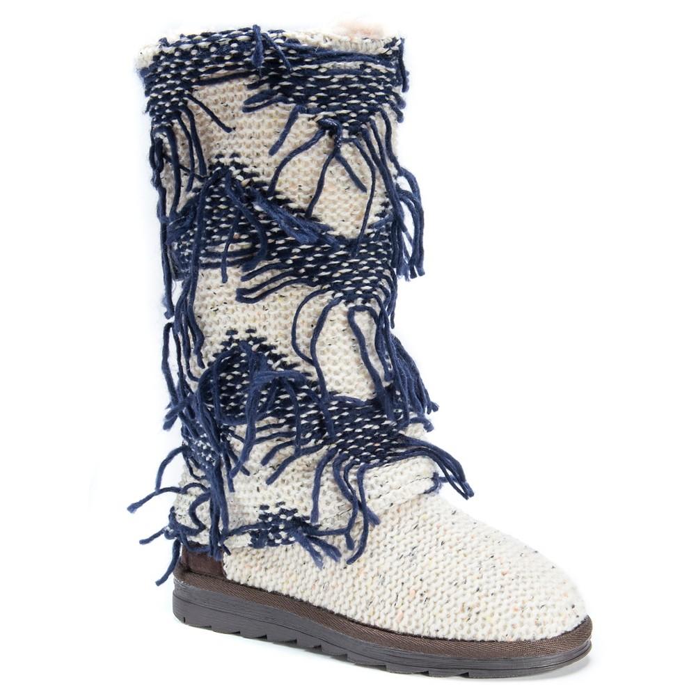 Womens Muk Luks Shawna Fringe Boots - White 7
