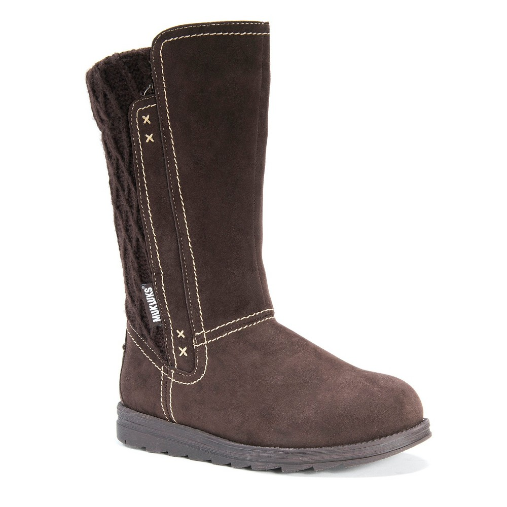 Womens Muk Luks Stacy Sweater Boots - Brown 11