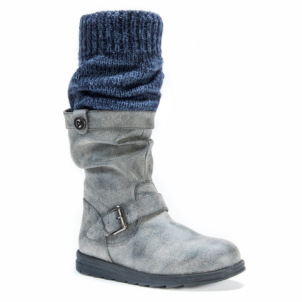 Womens Muk Luks Sky Slouch Boots - Gray 8