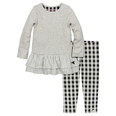 Organic Ruffle Thermal Dress & Leggings Stone Heather 6-9M - Burt's Bees Baby™