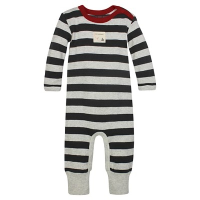 Organic Stripe Footless Coverall Cranberry 3-6M - Burt's Bees Baby™