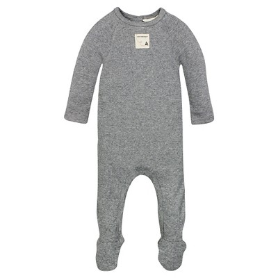 Organic Rib Union Suit Coverall Heather Gray 3-6M - Burt's Bees Baby™