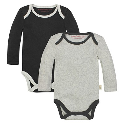Organic 2-Pack Solid Bodysuits - online only Stone Heather 3-6M - Burt's Bees Baby™