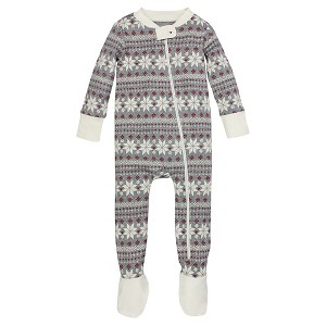 Organic Fair Isle Sleeper Multi 18M - Burt