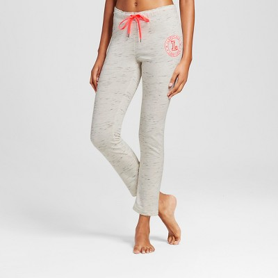 Women's Love Drawstring Pants Black/Ivory S -Inspired Hearts(Juniors')