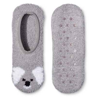 Women's Cozy Liner Socks - Xhilaration™ Gray Koala One Size