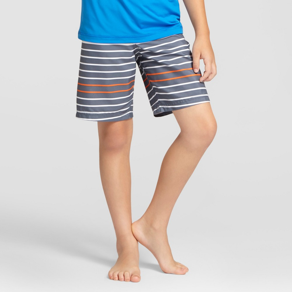 Boys Swim Trunks - Cat & Jack Blue Steel L, Size: XS