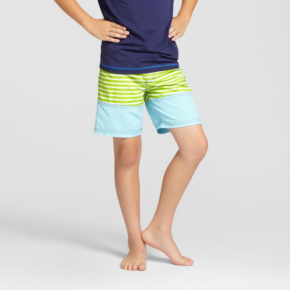 Boys Swim Trunks - Cat & Jack Zap Green XS
