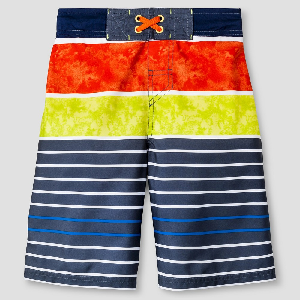 Boys SwimTrunks - Cat & Jack Orange Flash - M