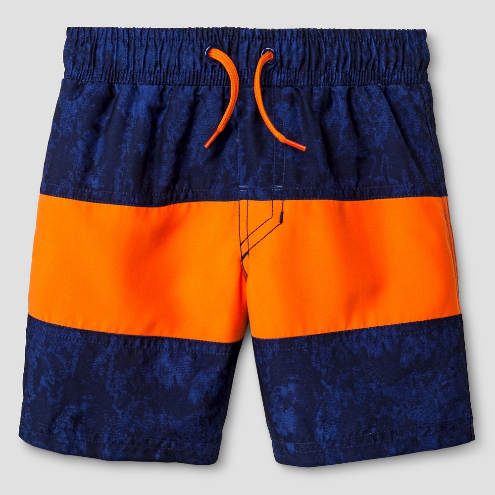 Boys SwimTrunks - Cat & Jack Orange Flash XS
