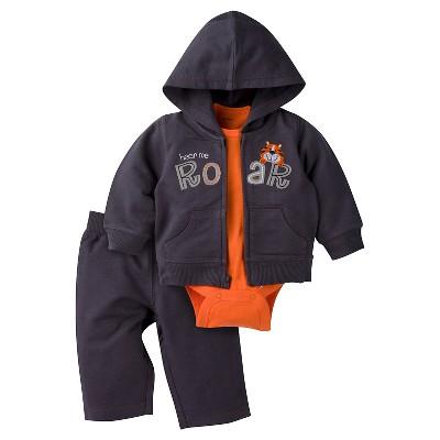 Baby Boys' Tiger Hooded Jacket, Short-Sleeve Onesie® and Pant Set 6-9m - Gerber®
