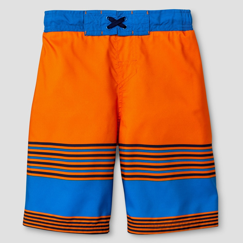 Boys' SwimTrunks - Cat & Jack Orange Flash XL