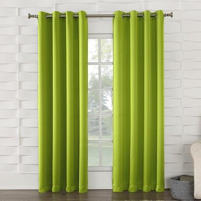 Seymour Energy Efficient Grommet Curtain Panel Lime 54 x63 - Sun Zero