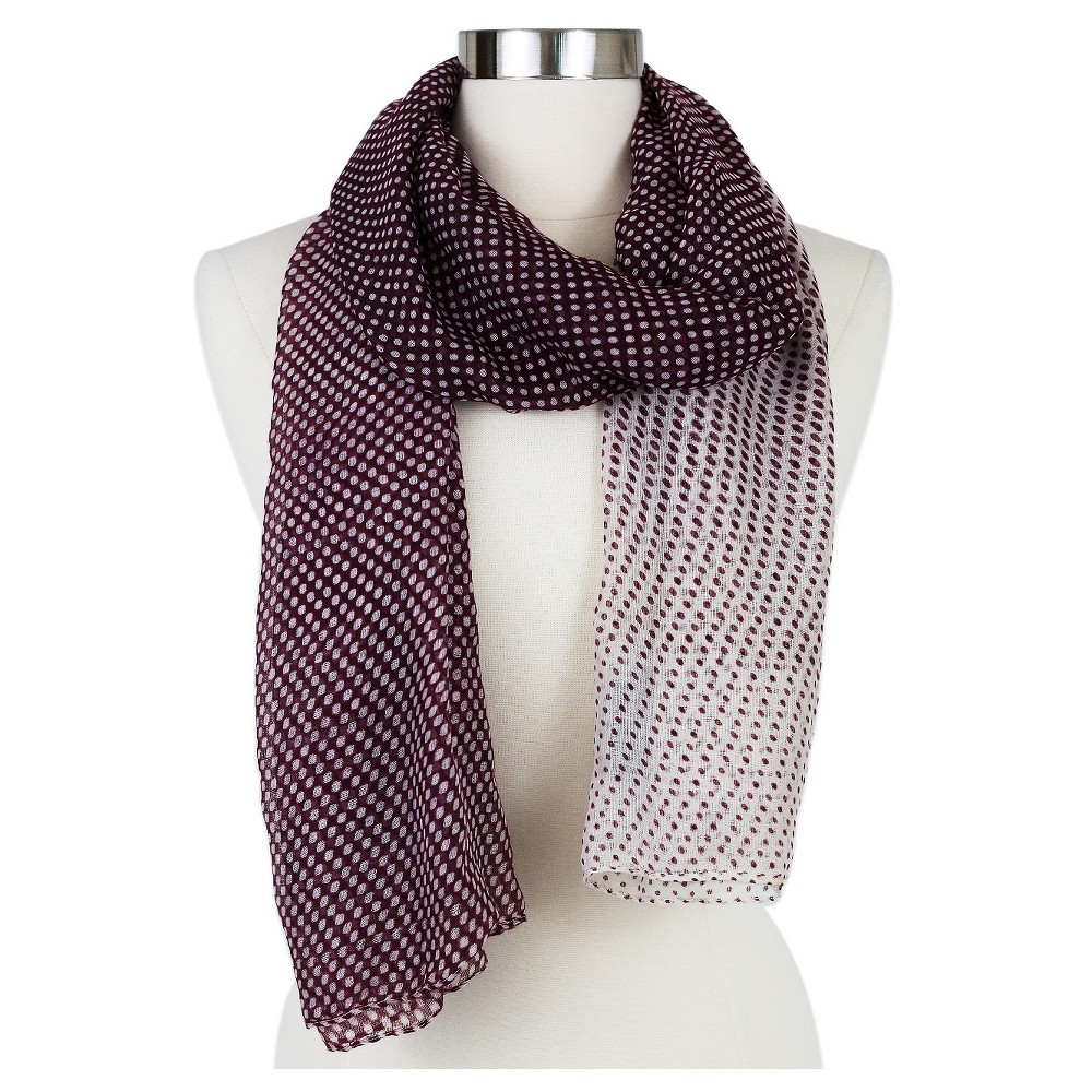 Women's Fashion Oblong Scarf Burgundy (Red) - Sylvia Alexander