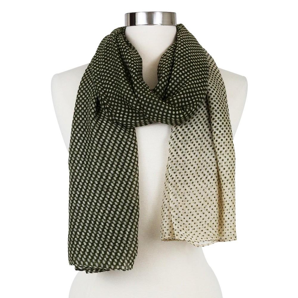 Womens Fashion Oblong Scarf Olive - Sylvia Alexander, Green