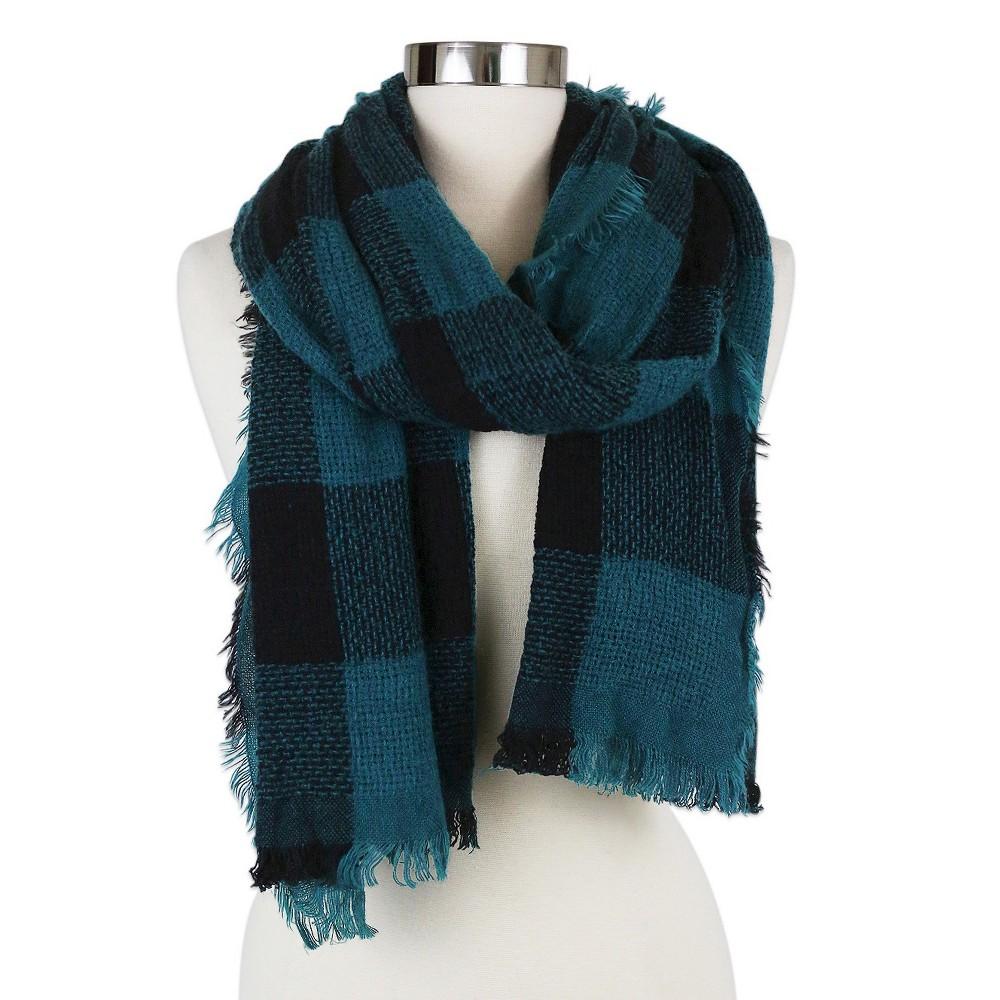 Womens Fashion Oblong Scarf Teal (Blue) - Sylvia Alexander