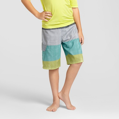 Boys' Swim Trunks Cat & Jack - Gradual Gray XS, Boy's