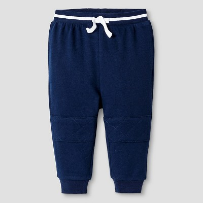 Baby Boys' French Terry Jogger with Knee Stitching Cat & Jack™ - Nighttime Blue 18 M