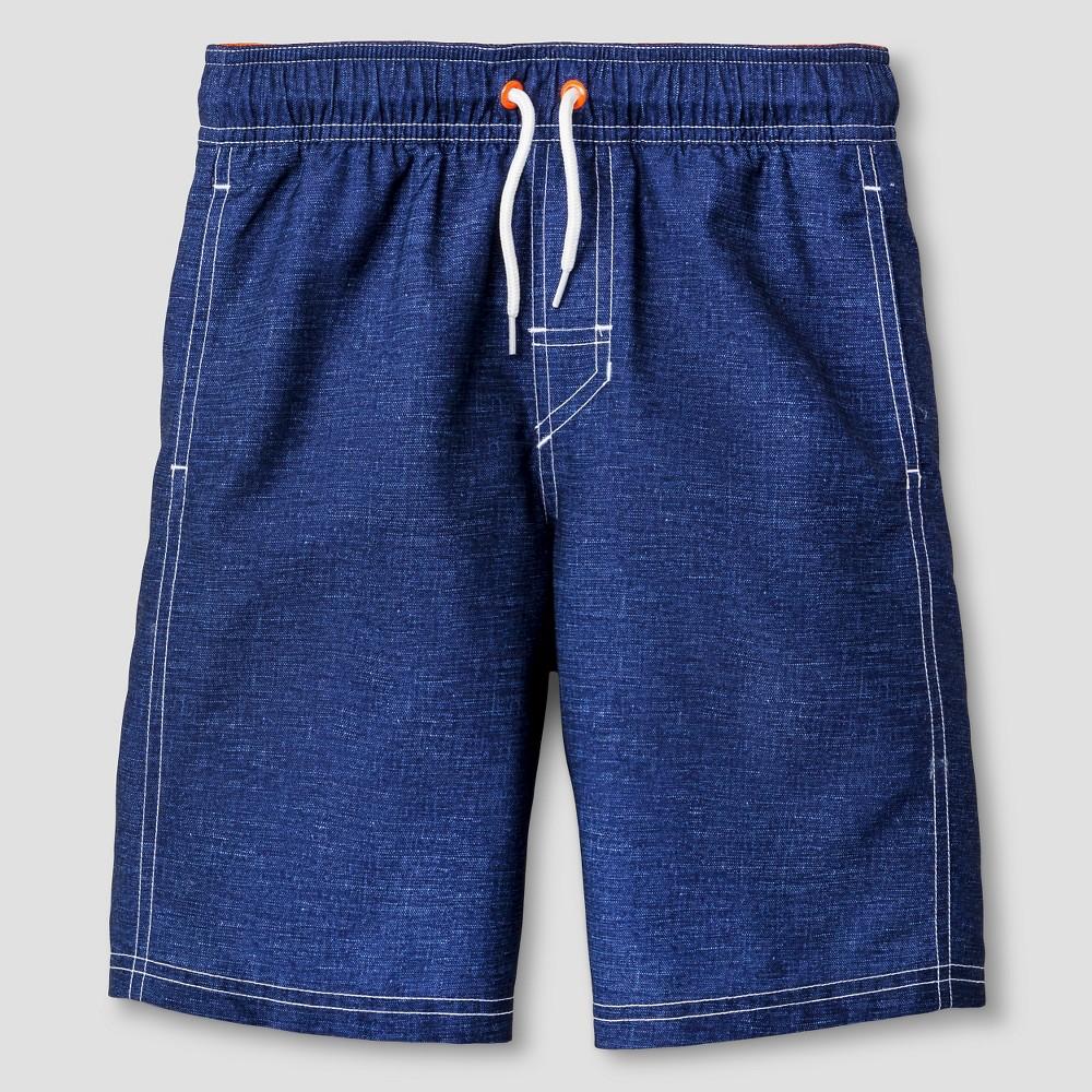 Boys Swim Trunks - Cat & Jack Regatta Blue S