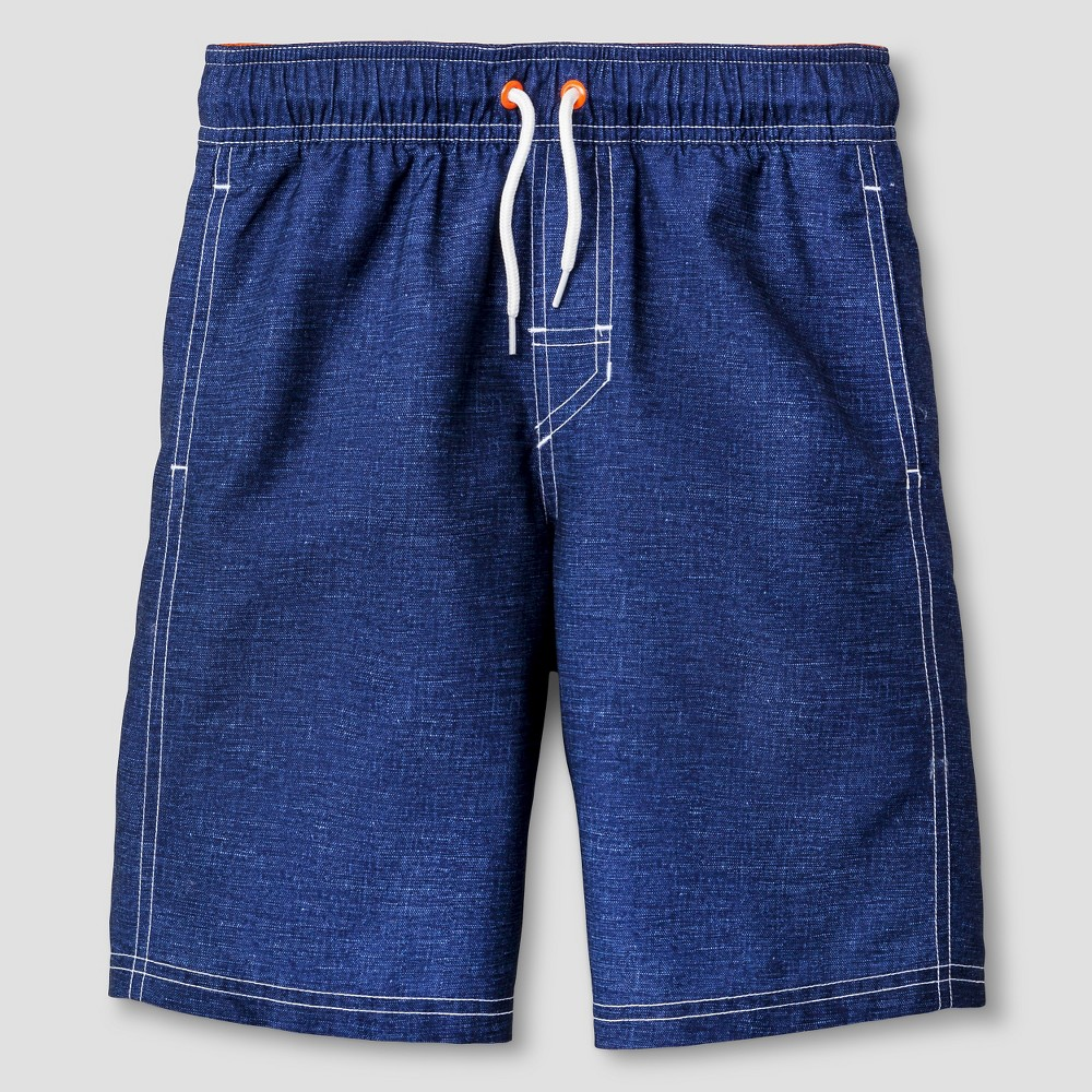Boys Swim Trunks - Cat & Jack Regatta Blue - L