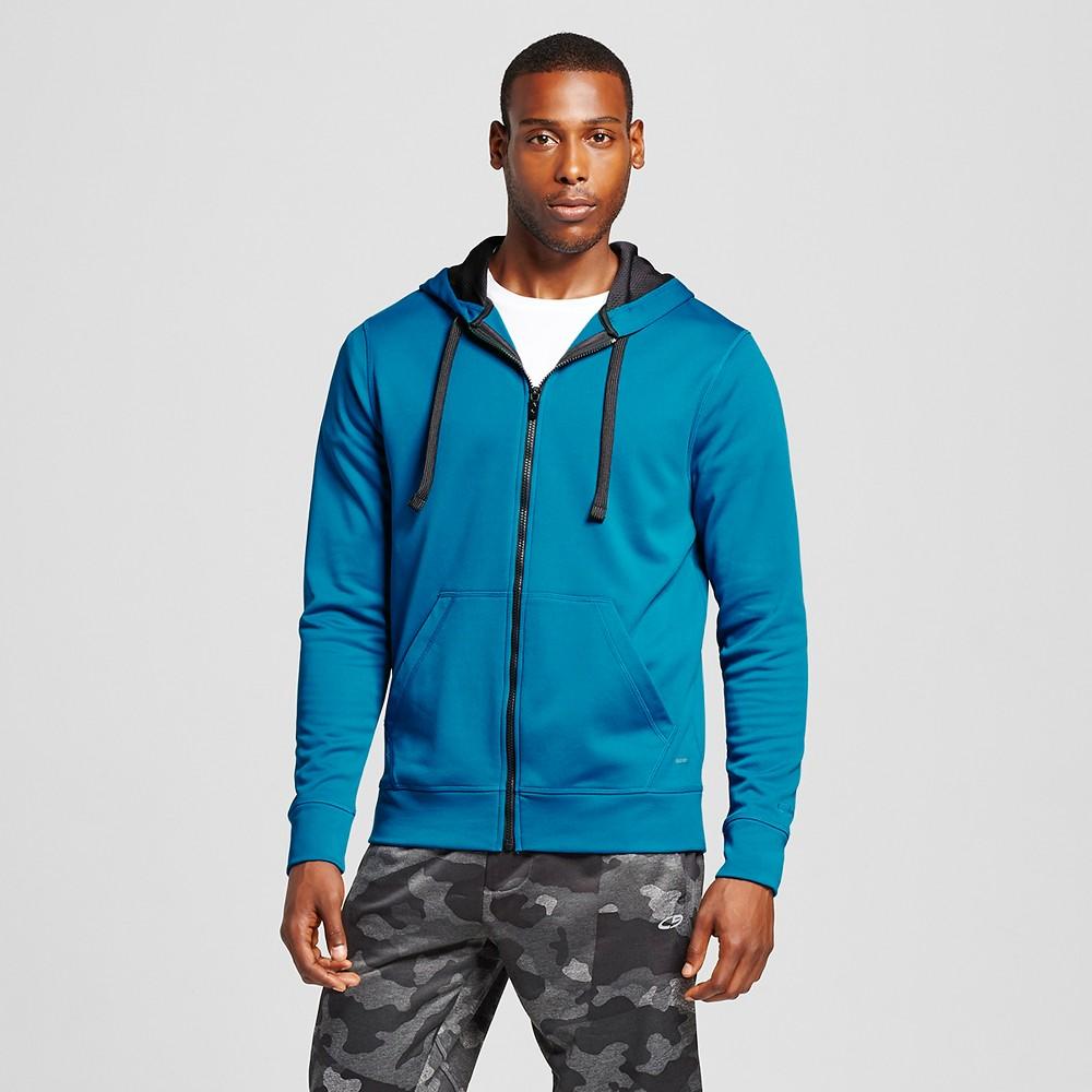 Mens Tech Fleece Full zip Hoodie - C9 Champion Underwater Blue L