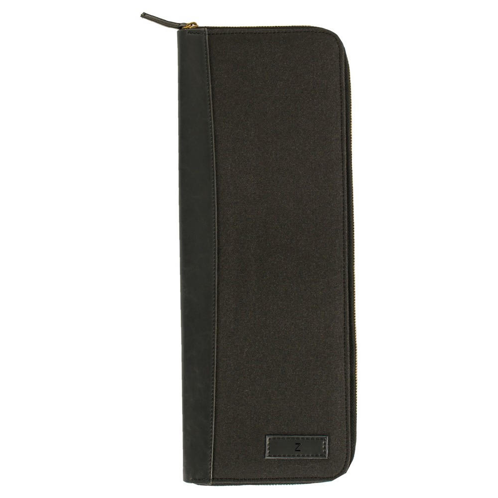 Monogram Groomsmen Gift Travel Tie Case Jewelry Box - Z, Black