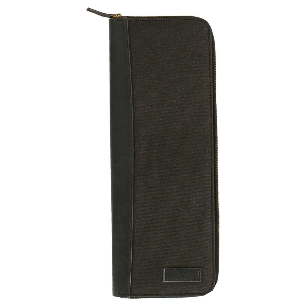 Monogram Groomsmen Gift Travel Tie Case Jewelry Box - V, Black