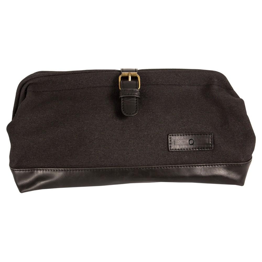 Monogram Groomsmen Gift Travel Dopp Kit Toiletry Bag - Q, Black