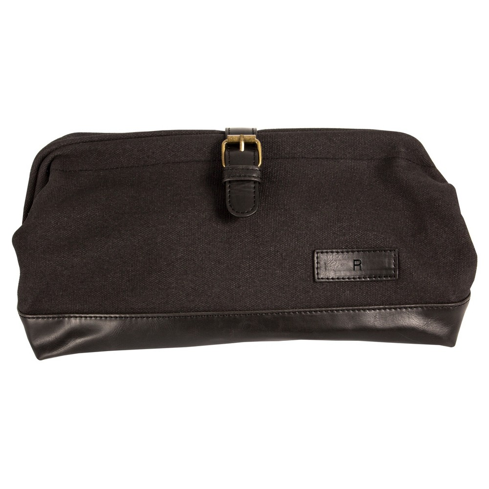Monogram Groomsmen Gift Travel Dopp Kit Toiletry Bag - R, Black