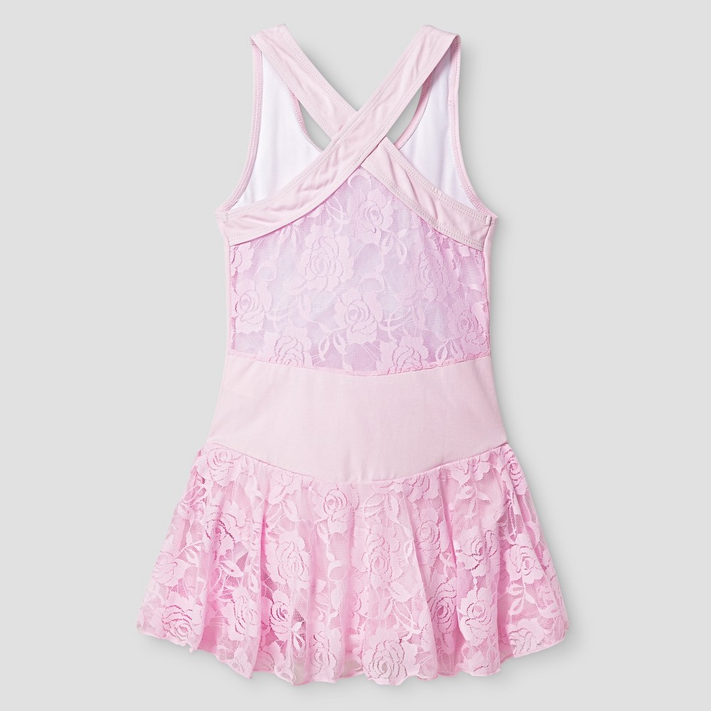 Girls Danshuz Leotard - Pink 6X/7