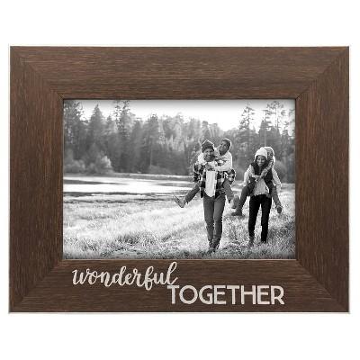 Single Image 'WONDERFUL TOGETHER' (5 x7 )- Espresso Frame
