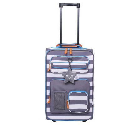 Crckt 18  Kids Carry On Luggage - Gray White Stripe
